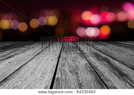 wood texture and bokeh background
