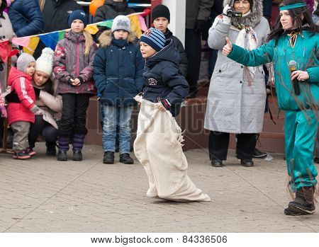 Boy Run In Bag