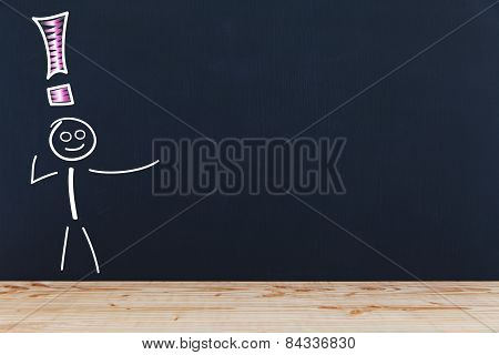 Blackboard With Stick Figures