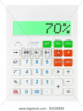 Calculator With 70