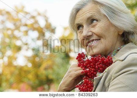 woman enjoying walk