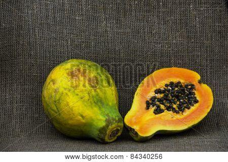 One and a half papaya