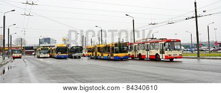 Vilnius City Troleybuss In Zirmunai District Nord City