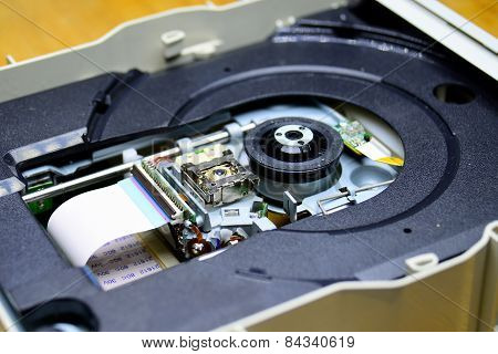 Laser In Dvd-rom Disk Drive Open Unit