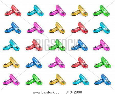 Shoes Collection Isolated On The White Background