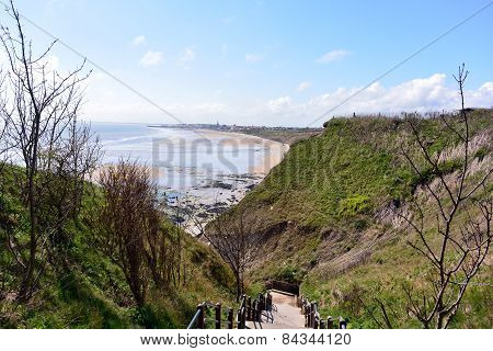 View from Sewerby cliffs towards Bridlington