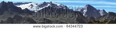 Landscape, The Glacier Of Marmolada