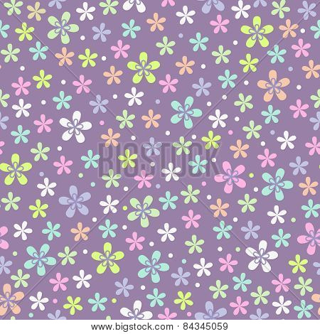 Flower Seamless Color Pattern