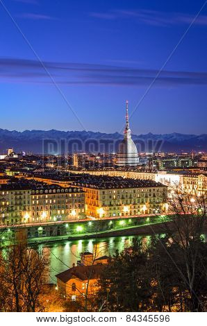Turin (torino), Panorama With Mole Antonelliana