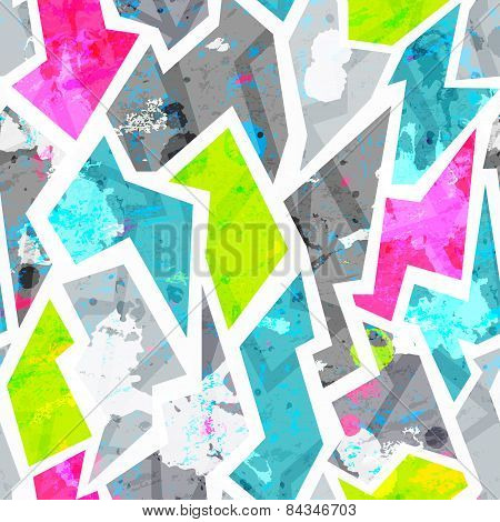 Grunge Seamless Pattern With Blots Effect