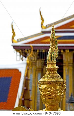Demon In The Temple Bangkok Asia   Roof Palaces  Warrior Monster