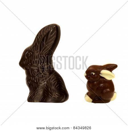 Large and small Easter Bunnies