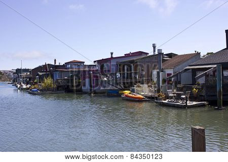 Sausalito Houseboats, floating houses