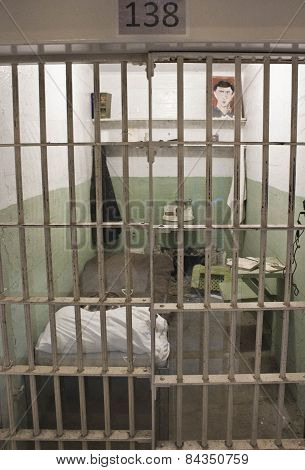 Close Up Of An Alcatraz Cell