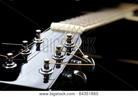 Neck Of Black Guitar