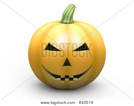 Halloween pumpkin on white