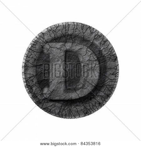 Grunge Font - Letter D