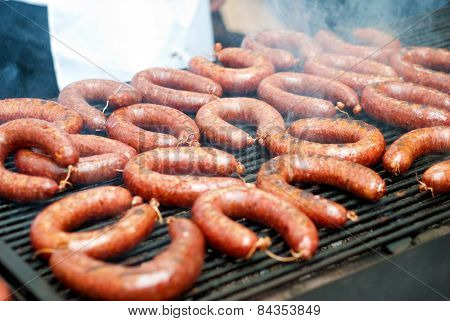 Sausages On Grill