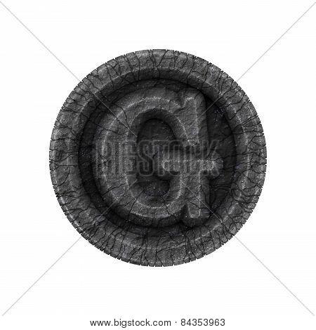 Grunge Font - Letter G