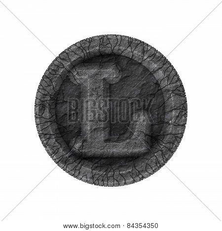 Grunge Font - Letter L