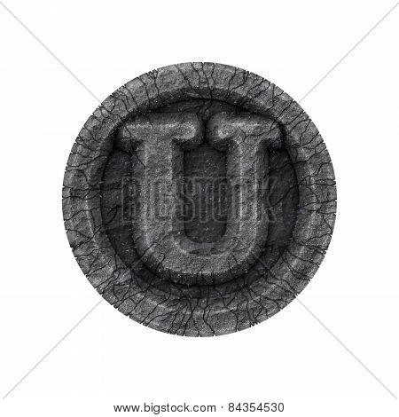 Grunge Font - Letter U