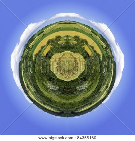 Abstract countryside world. Color image