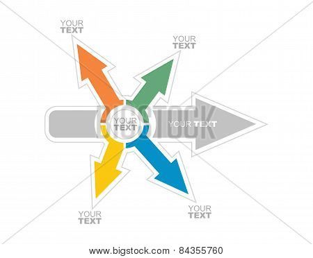 Business Flow Illustration With Arrows