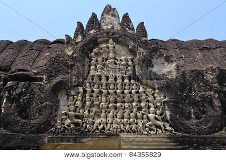 Apsara Dancers Stone Carving at Angkor Wat