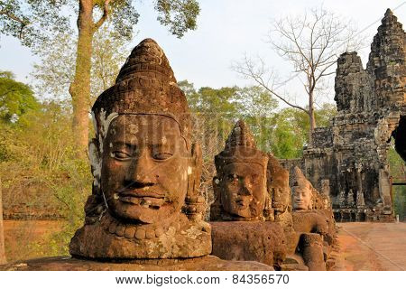 North gate of Angkor Thom Ancient city, Cambodia