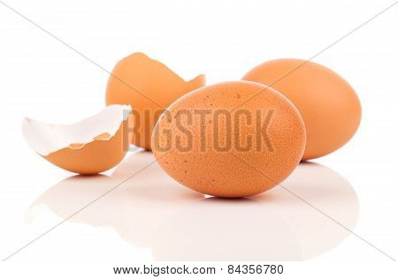 Eggs And Egg Shell Crack