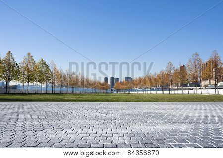 Franklin D. Roosevelt Four Freedoms Park On Roosevelt Island In New York City.