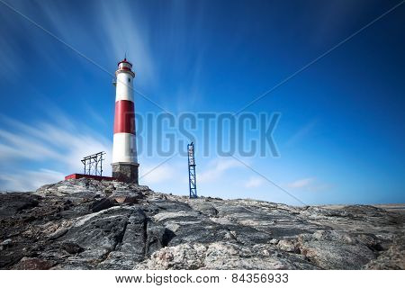 Light house on the Namibian Coast near Luderitz