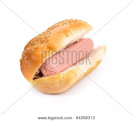 Hot dog bread and sausage roll.