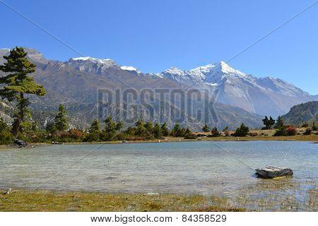Landscape in Annapurna mountain range, Himalayas