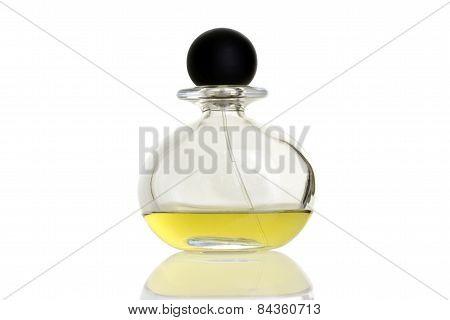yellow perfume in bottle