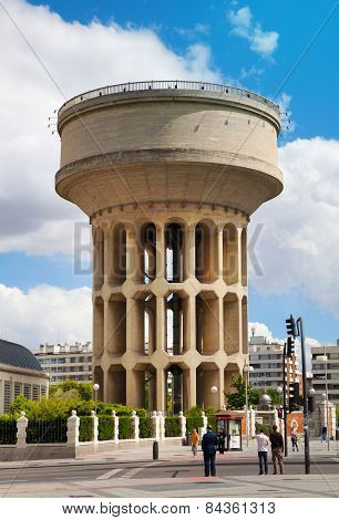 Madrid city old water tower
