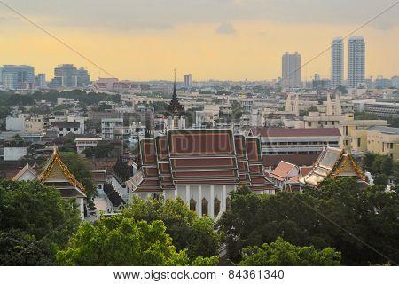 Cityscape in urban Bangkok,capital of Thailand