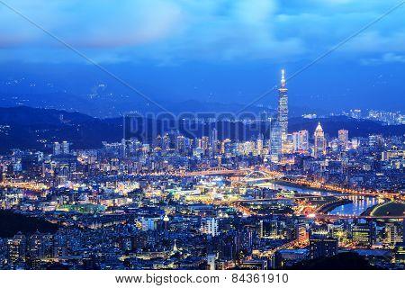 Taipei, Taiwan Cityscape From Neihu District.