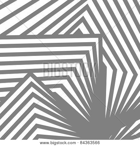Geometric Vector Black And White Background. Avant-garde Style