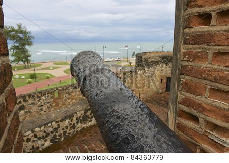 View from San Felipe Fort to the seaside in Puerto Plata, Dominican Republic.