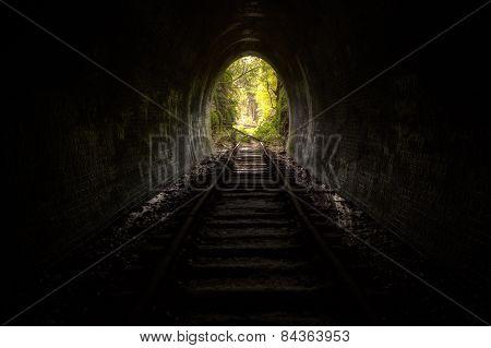 A hidden tunnel looks spooky near Sydney