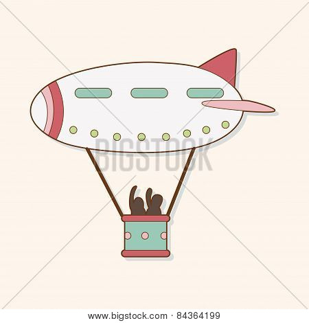 Airship Theme Elements Vector,eps