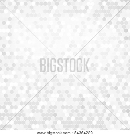 White Hexagon Background. Abstract Geometric Seamless Pattern