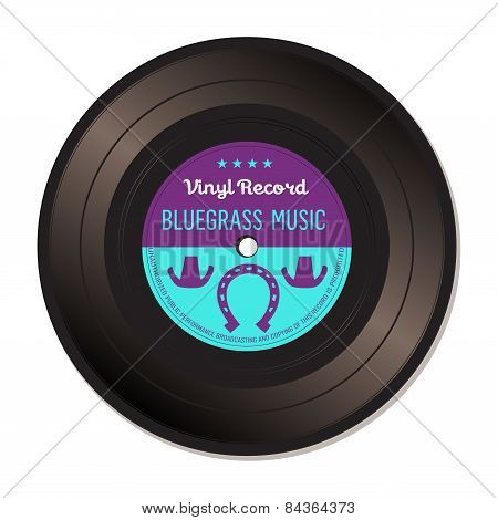 Bluegrass music vinyl record