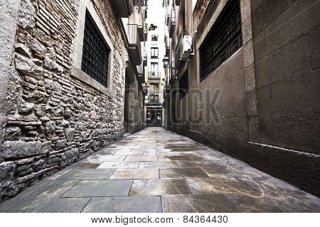 Barcelona's Gothic city streets.
