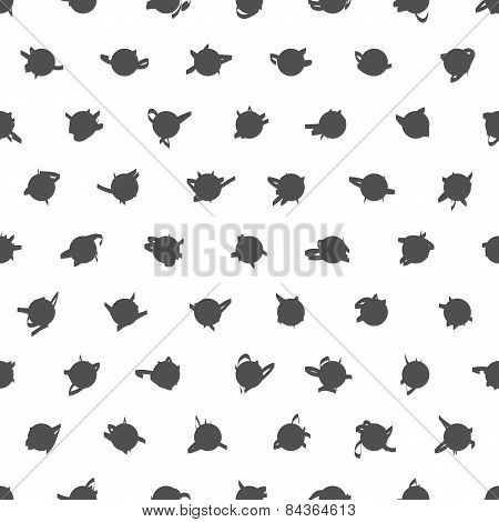 Seamless Black And White Pattern. Polka Dot Texture. Stylish Fashion Print
