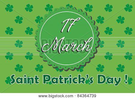 Saint Patrick postcard