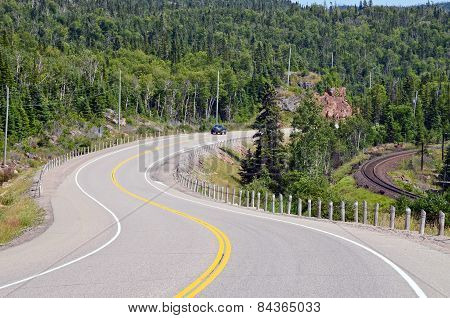 Transcanada Highway Along Superior Lake Shore