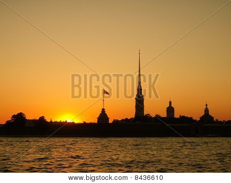 St. Petersburg Russia Sunset