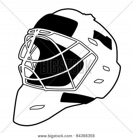 Hockey helmet isolated